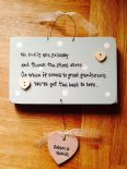 Handcrafted chic plaque Personalised  Great Grandparents Grandma Granny Grandad